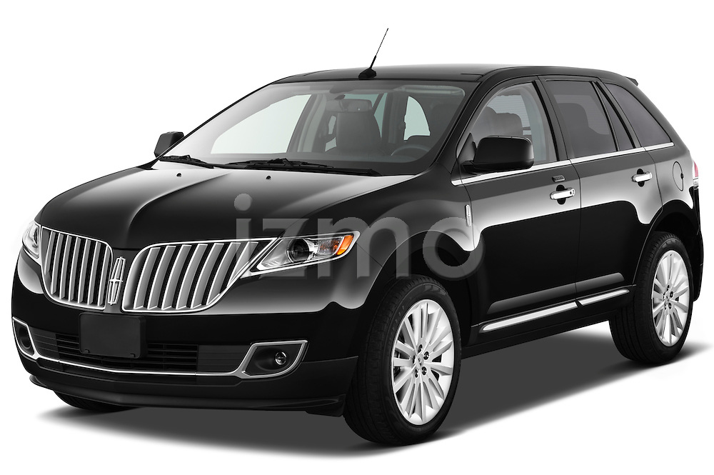 Front three quarter view of a 2011 Lincoln MKX.