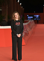 """Director Silenn Thomas poses on the red carpet for the movie """"American Genius"""" at the 16th edition of the Rome Film Fest in Rome, on October 22, 2021.<br /> UPDATE IMAGES PRESS/Isabella Bonotto"""