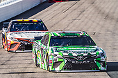 #18: Kyle Busch, Joe Gibbs Racing, Toyota Camry M&M's Interstate Batteries, #95: Matt DiBenedetto, Leavine Family Racing, Toyota Camry Procore