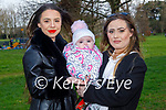 Enjoying a stroll in the Tralee town park on Saturday, l to r: Laura Walsh, Amelia Rose and Nakitta Hallissey.