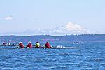 Port Townsend, Bogaciel, Frank C, Riverside, Rat Island Regatta, rowers, racing, Sound Rowers, Rat Island Rowing Club, Quads, Puget Sound, Olympic Peninsula, Washington State, water sports, rowing, competition,