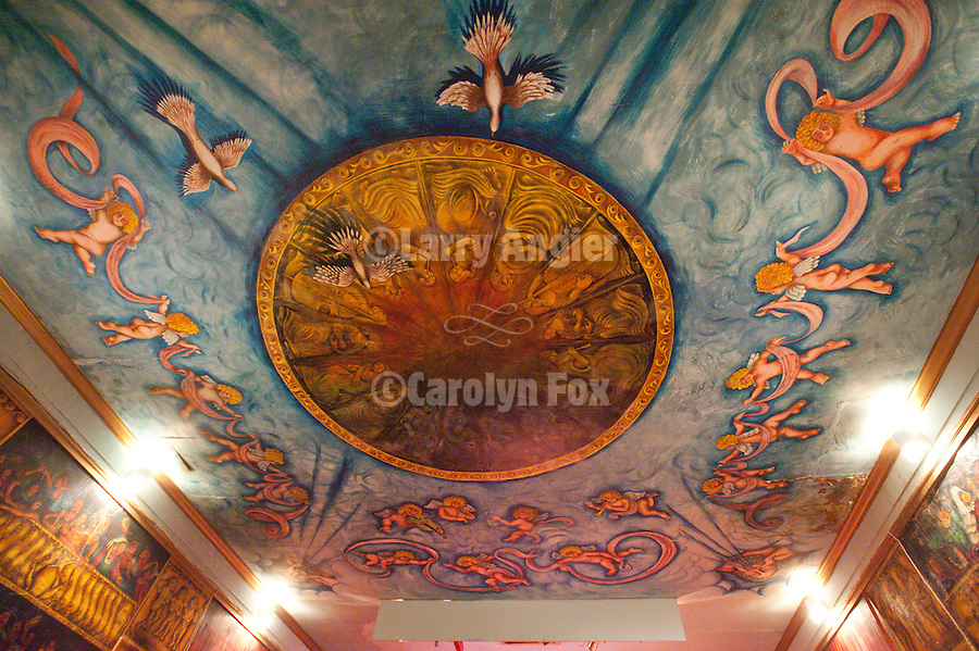 Amargosa Hotel and Opera House at Death Valley Jct...Ceiling frescos and murals painted by artist Marta Beckett inside the theater