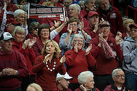 SPOKANE, WA - MARCH 28, 2011: Stanford fans at the Stanford Women's Basketball vs Gonzaga, NCAA West Regional Finals at the Spokane Arena on March 28, 2011.