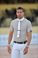 WELLINGTION, FL - FEBRUARY 09: SATURDAY NIGHT LIGHTS: Eugenio Garza Pérez participates in Class 101 - FEI CSI5* $391,000 Fidelity Investments Grand Prix where the winner was Martin Fuchs (Swiss) second place was Kent Farrington (USA) and third was Conor Swail (IRE). The Winter Equestrian Festival (WEF) is the largest, longest running hunter/jumper equestrian event in the world held at the Palm Beach International Equestrian Center on February 09, 2019  in Wellington, Florida<br /> <br /> People:  Eugenio Garza Pérez