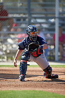 Minnesota Twins catcher Mitch Garver (82) during a Spring Training practice on March 1, 2016 at Hammond Stadium in Fort Myers, Florida.  (Mike Janes/Four Seam Images)