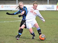 Club Brugge Dames - Heerenveen : Silke Demeyere (links) in duel<br /> foto Joke Vuylsteke / nikonpro.be