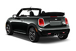 Car pictures of rear three quarter view of 2017 Mini Cooper John Cooper Works 2 Door Convertible angular rear