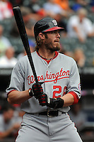 Washington Nationals outfielder Jayson Werth #28 during a game against the New York Mets at Citi Field on September 15, 2011 in Queens, NY.  Nationals defeated Mets11-1.  Tomasso DeRosa/Four Seam Images
