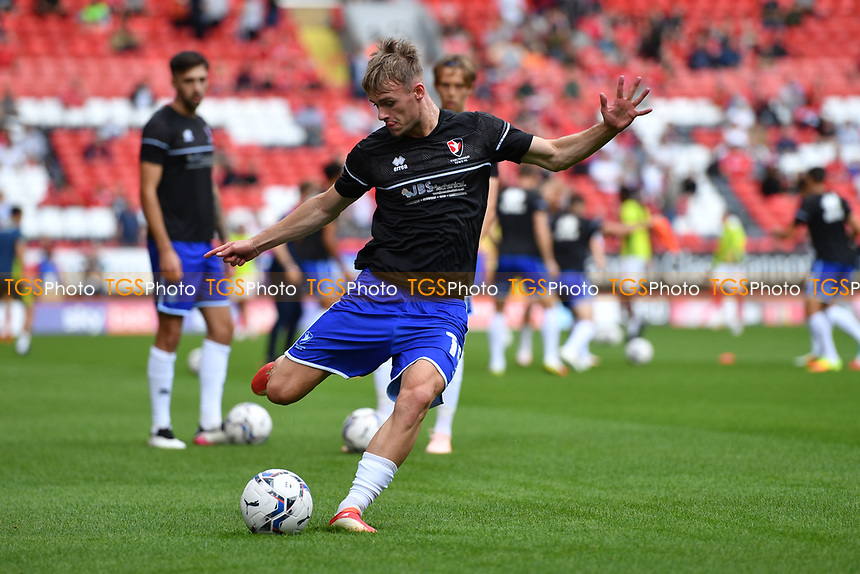 Taylor Perry of Cheltenham FC during Charlton Athletic vs Cheltenham Town, Sky Bet EFL League 1 Football at The Valley on 11th September 2021