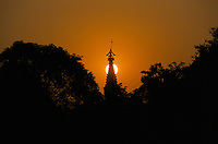 Sun raise at the Maya Devi Temple in Lumbini - Nepal, marks the birth place of Siddhartha Gautam Buddha.  In 1976, the Nepalese Government and UNESCO designated Lumbini as a world heritage site..-The full text reportage is available on request in Word format