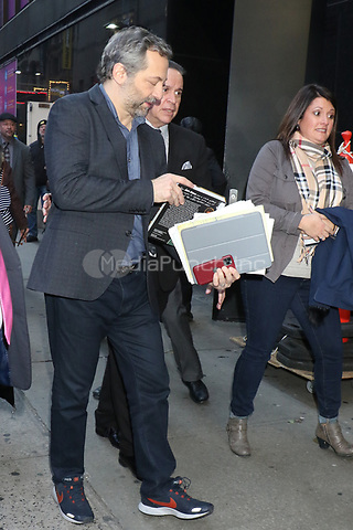 NEW YORK, NY- November 11: Judd Apatow seen at Good Morning America promoting his new book 'It's Garry Shandling's Book' on November 11, 2019 in New York City. Credit: RW/MediaPunch