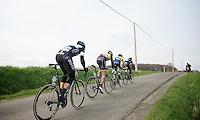 4 riders try to bridge the gap to race leader Niki Terpstra (NLD/OPQS): Alejandro Valverde (ESP/Movistar), Stijn Devolder (BEL/Trek Factory Racing), Gert Steegmans (BEL/OPQS) & Nicki Sörensen (DNK/TinkoffSAXO)<br /> <br /> Dwars Door Vlaanderen 2014