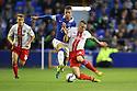 James Dunne of Stevenage tackles Ross Barkley of Everton<br />  - Everton v Stevenage - Capital One Cup Second Round - Goodison Park, Liverpool - 28th August, 2013<br />  © Kevin Coleman 2013