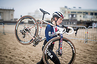 Clara Honsinger (USA/Cannondale-Cyclocrossworld)<br /> <br /> UCI 2021 Cyclocross World Championships - Ostend, Belgium<br /> <br /> Women's Race<br /> <br /> ©kramon