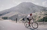 Jarlinson Pantano (COL/Trek-Segafredo) up the Col d'Izoard (HC/2360m/14.1km/7.3%)<br /> <br /> 104th Tour de France 2017<br /> Stage 18 - Briancon › Izoard (178km)