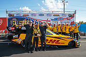 funny car, Camry, J.R. Todd, DHL, victory, celebration, trophy, staff
