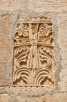 Pictures & images of Nikortsminda ( Nicortsminda ) St Nicholas Georgian Orthodox Cathedral exterior and its Georgian relief sculpture stonework cross decorations, 11th century, Nikortsminda, Racha region of Georgia (country). A UNESCO World Heritage Tentative Site.