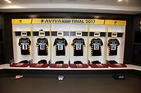 Photo: Richard Lane/Richard Lane Photography. Wasps v Exeter Chiefs. Aviva Premiership Final. 27/05/2017. Wasps changing room.