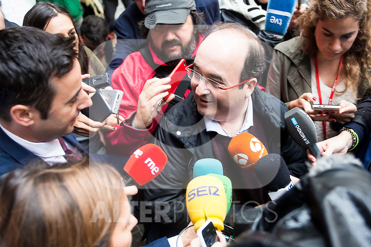 Miguel Iceta attends to the meeting of PSOE's Federal Committee at PSOE's headquarters in Ferraz, Madrid. October 23, 2016. (ALTERPHOTOS/Borja B.Hojas)