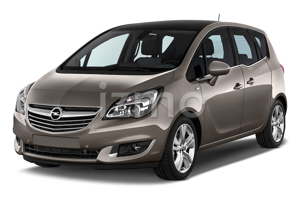 2014 Opel MERIVA Cosmo 5 Door Mini MPV 2WD Angular Front stock photos of front three quarter view