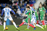 CD Leganes' Youssef En-Nesyri (L)  and Deportivo Alaves'  Ibai Gomezduring La Liga match. November 23,2018. (ALTERPHOTOS/Alconada)