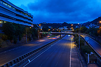 Wellington urban motorway at 7am, Wednesday during Level 4 lockdown for the COVID-19 pandemic in Wellington, New Zealand on Wednesday, 18 August 2021.