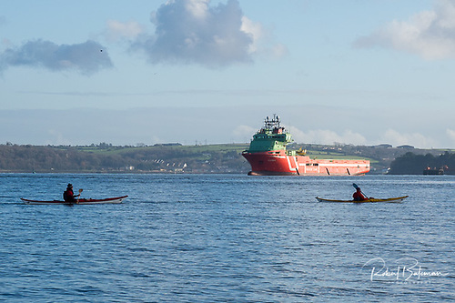 The cargo supply vessel Evita moored in Cork Harbour this week. The Port of Cork is Ireland's primary southern gateway