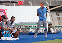 GUADALAJARA, MEXICO - MARCH 28: Jason Kreis of the United States talking with Jeff Cassar during a game between Honduras and USMNT U-23 at Estadio Jalisco on March 28, 2021 in Guadalajara, Mexico.