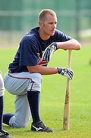 17 March 2009: Jon Mark Owings of the Atlanta Braves at Spring Training camp at Disney's Wide World of Sports in Lake Buena Vista, Fla. Photo by:  Tom Priddy/Four Seam Images