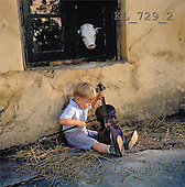 Interlitho, CHILDREN, photos, boy, violin, cow(KL729/2,#K#) Kinder, niños