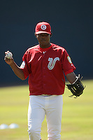 July 12 2009: Pedro Vidal of the Vancouver Canadians before game against the Boise Hawks at Nat Bailey Stadium in Vancouver,BC..Photo by Larry Goren/Four Seam Images