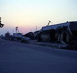 On March 11, 2011, the earthquake of magnitude 9.0, the biggest earthquake in the history of Japan and the fourth biggest earthquake in the world after year 1900, shocked the Tohoku area of Japan. In about 30 minutes, devastating tsunami reached, affecting the coastline with a length of 500 km (310 miles). The tsunami wave height of 39 meters (128 feet) was recorded in a port town in Tohoku. The tsunami swallowed villages along the coast and washed away all houses. The earthquake and tsunami killed more than 15,800 people, and still more than 3,500 people are missing. <br /> <br /> The sun sets on a destroyed town, Ishinomaki, Miyagi.<br /> <br /> Le 11 mars 2011, le séisme de magnitude 9,0, le plus important de l'histoire du Japon et le quatrième plus grave au monde après 1900, a choqué la région de Tohoku au Japon. En environ 30 minutes, le tsunami dévastateur a atteint, affectant le littoral avec une longueur de 500 km (310 miles). La hauteur de vague du tsunami de 39 mètres (128 pieds) a été enregistrée dans une ville portuaire de Tohoku. Le tsunami a englouti des villages le long de la côte et a emporté toutes les maisons. Le séisme et le tsunami ont tué plus de 15 800 personnes et plus de 3 500 personnes sont toujours portées disparues.<br /> <br /> Le soleil se couche sur une ville détruite, Ishinomaki, Miyagi.