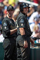 Vanderbilt Commodores outfielder JJ Bleday (51) during Game 8 of the NCAA College World Series against the Mississippi State Bulldogs on June 19, 2019 at TD Ameritrade Park in Omaha, Nebraska. Vanderbilt defeated Mississippi State 6-3. (Andrew Woolley/Four Seam Images)