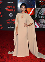"""Tiffany Smith at the world premiere for """"Star Wars: The Last Jedi"""" at the Shrine Auditorium. Los Angeles, USA 09 December  2017<br /> Picture: Paul Smith/Featureflash/SilverHub 0208 004 5359 sales@silverhubmedia.com"""