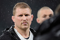 Dylan Hartley of England looks dejected after losing the QBE International match between England and New Zealand at Twickenham Stadium on Saturday 8th November 2014 (Photo by Rob Munro)