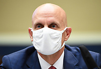 Commissioner of U.S. Food and Drug Administration Dr. Stephen M. Hahn wears a face mask while he waits to testify before the House Committee on Energy and Commerce on the Trump Administration's Response to the COVID-19 Pandemic, on Capitol Hill in Washington, DC on Tuesday, June 23, 2020.   <br /> Credit: Kevin Dietsch / Pool via CNP/AdMedia