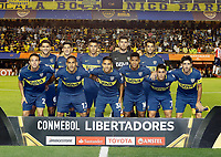 "BUENOS AIRES - ARGENTINA - 04 - 04 - 2018: Los jugadores de Boca Juniors, posan para una foto, durante partido de la fase de grupos, grupo H, fecha 2, entre Boca Juniors (ARG) y Atletico Junior (Col) por la Copa Conmebol Libertadores 2018, jugado en el estadio Alberto J. Armando ""La Bombonera""  de la ciudad Ciudad Autónoma de Buenos Aires. / The players of Boca Juniors, pose for a photo, during a match of the groups phase, group H, of the 2nd date between Boca Juniors (ARG) and Atletico Junior (Col), for the Copa Conmebol Libertadores 2018 at the Alberto J. Armando ""La Bombonera"" Stadium in Ciudad Autónoma de Buenos Aires. Photo: VizzorImage / Javier Garcia Martino / Photogamma / Cont."