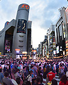 Summer night dance festival in Tokyo's Shibuya district