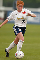 Amy Sauer of the San Diego Spirit during a game against the New York Power. The Spirit defeated the Power 1-0 on July 20th at Mitchel Athletic Complex, Uniondale, NY.