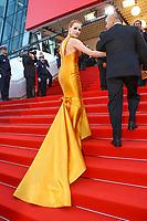 Jessica Chastain sur le tapis rouge pour la soirée dans le cadre de la journée anniversaire de la 70e édition du Festival du Film à Cannes, Palais des Festivals et des Congres, Cannes, Sud de la France, mardi 23 mai 2017.
