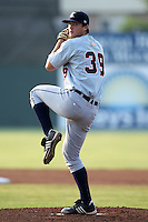 Connecticut Tigers pitcher Brennan Smith (39) during a game vs. the Batavia Muckdogs at Dwyer Stadium in Batavia, New York July 8, 2010.   Connecticut defeated Batavia 4-2 in extra innings.  Photo By Mike Janes/Four Seam Images