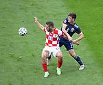 22.06.2021 Croatia v Scotland: Kieran Tierney and Nikola Vlasic