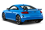 Car pictures of rear three quarter view of a 2019 Audi TT RS Base 3 Door Coupe angular rear