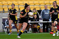 Thamsyn Newton of the Wellington during the Farah Palmer Cup Rugby – Wellington v Manawatu at Sky Stadium, Wellington, New Zealand on Friday 25 September 2020. <br /> Photo by Masanori Udagawa. <br /> www.photowellington.photoshelter.com