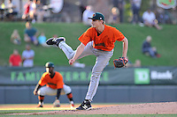 Pitcher Phil Bickford (37) of the Augusta GreenJackets delivers a pitch in a game against the Greenville Drive on Wednesday, May 4, 2016, at Fluor Field at the West End in Greenville, South Carolina. Greenville won, 6-3. (Tom Priddy/Four Seam Images)