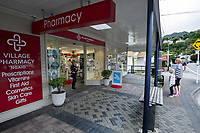 Ngaio Village Pharmacy at 4.15pm, Wednesday, during lockdown for the COVID19 pandemic in Wellington, New Zealand on Wednesday, 22 April 2020. Photo: Dave Lintott / lintottphoto.co.nz