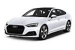 2021 Audi A5-Sportback Design 5 Door Hatchback Angular Front automotive stock photos of front three quarter view