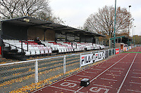 General view of the West Side of the ground - AFC Hornchurch vs Wingate & Finchley - Ryman League Premier Division Football at Hornchurch Stadium, Bridge Avenue, Upminster, Essex - 30/11/13 - MANDATORY CREDIT: Gavin Ellis/TGSPHOTO - Self billing applies where appropriate - 0845 094 6026 - contact@tgsphoto.co.uk - NO UNPAID USE