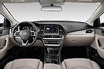 Stock photo of straight dashboard view of 2019 Hyundai Sonata SE 4 Door Sedan Dashboard