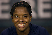 United States (USA) goalkeeper Briana Scurry (22). The United States Women's National Team (USA) defeated the Republic of Ireland (IRL) 2-0 during an international friendly at Lincoln Financial Field in Philadelphia, PA, on September 13, 2008.